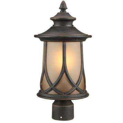 Resort Collection 1-Light Aged Copper Outdoor Post Lantern