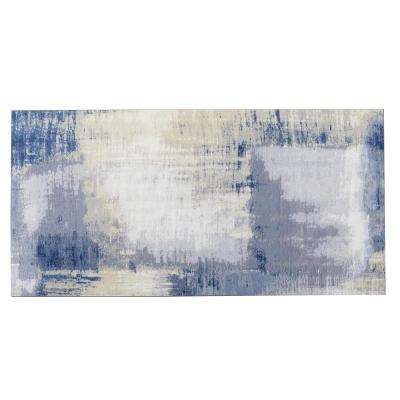 Nature 8 in. x 16 in. Cement Blue Glass Peel and Stick Decorative Wall Tile Backsplash (6-Pieces/Pack)