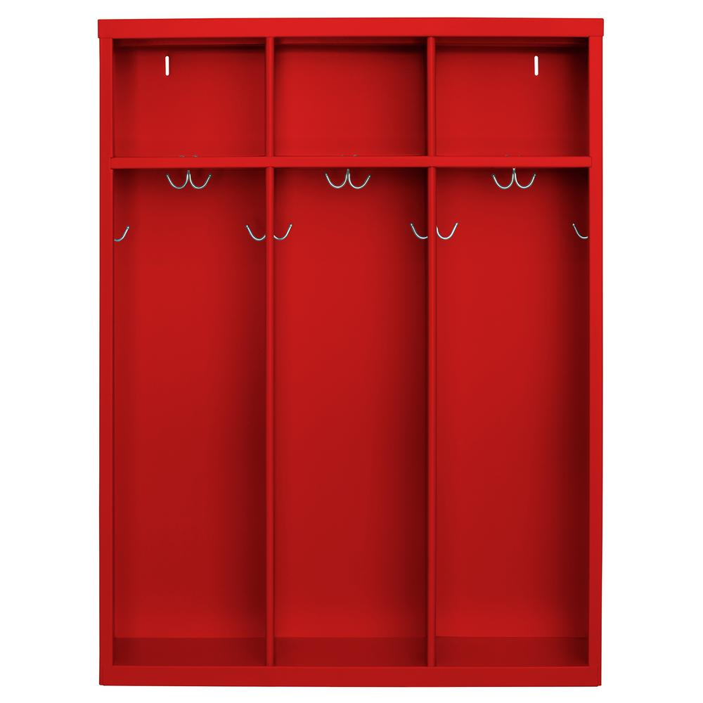 Sandusky 1 Shelf Steel Open Front Kids Locker In Red