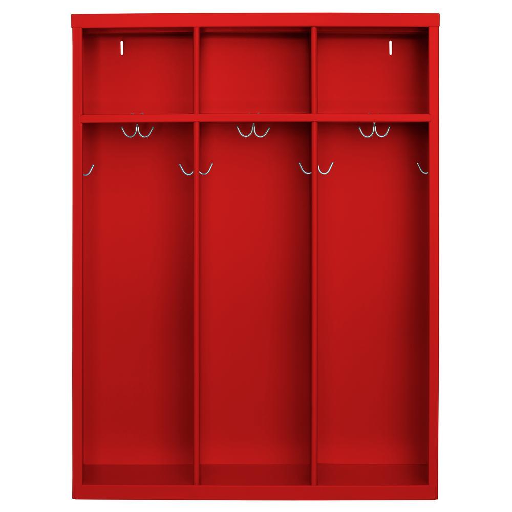 Sandusky 1 Shelf Steel Open Front Kids Locker In Red