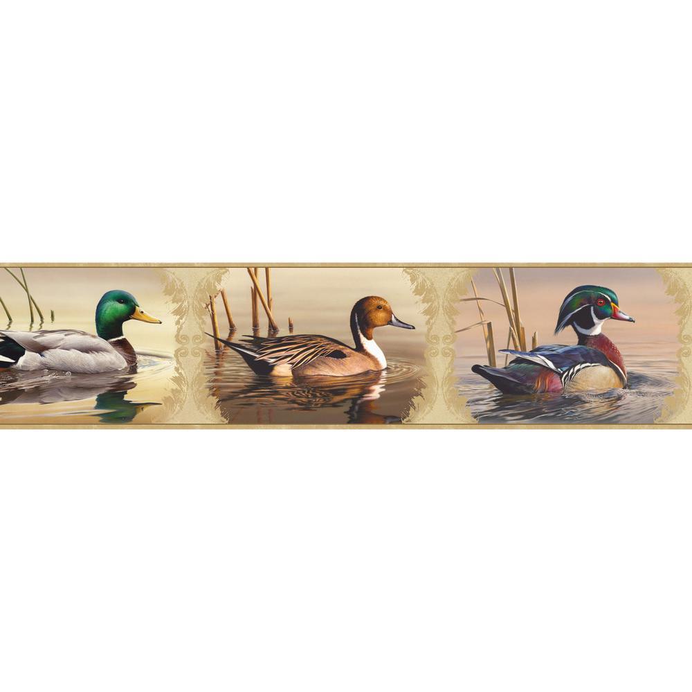 Chesapeake Winning Waterfowl Portrait Blocks Wallpaper Bo...