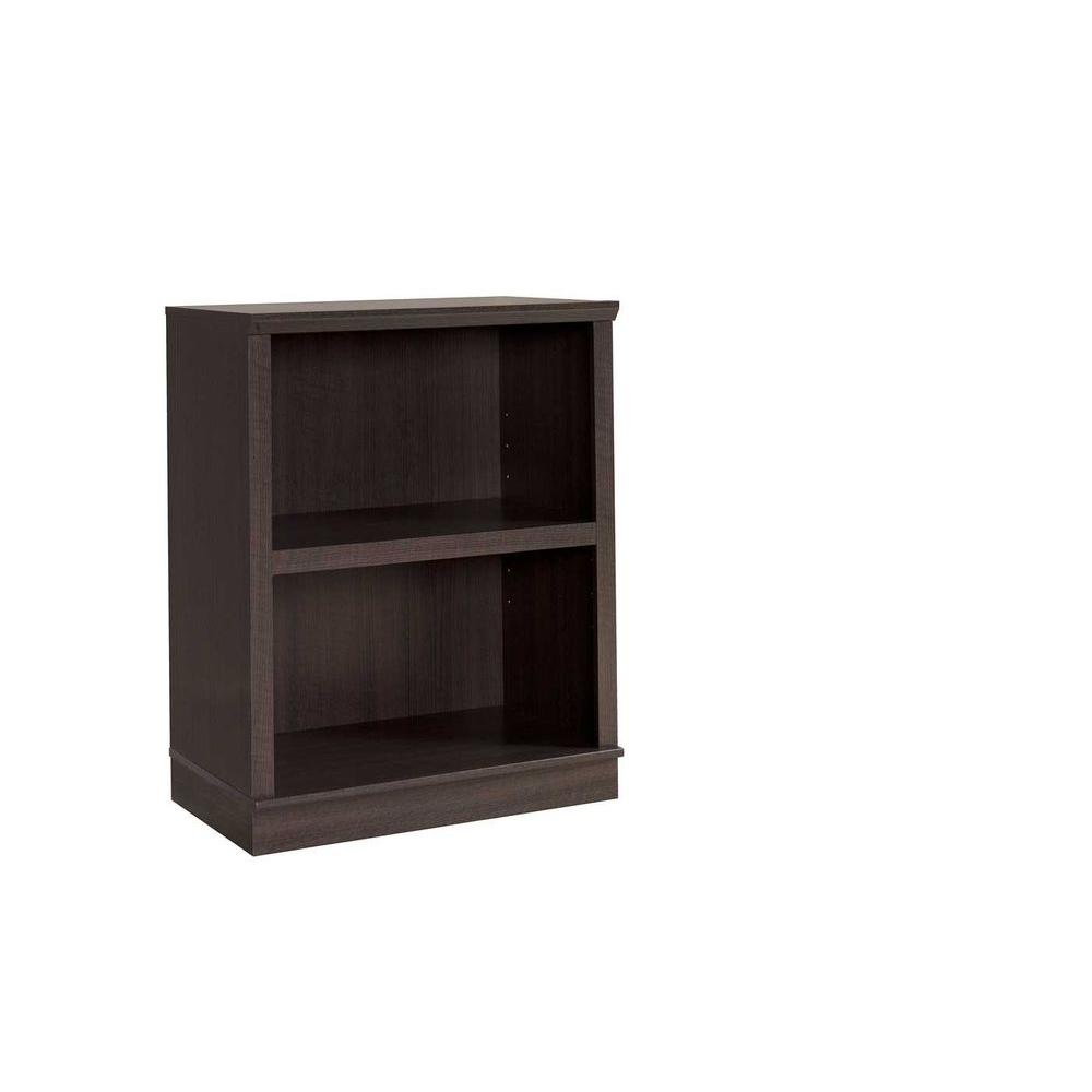 SAUDER HomePlus Collection Dakota Oak 2-Shelf Bookcase with Hutch-DISCONTINUED