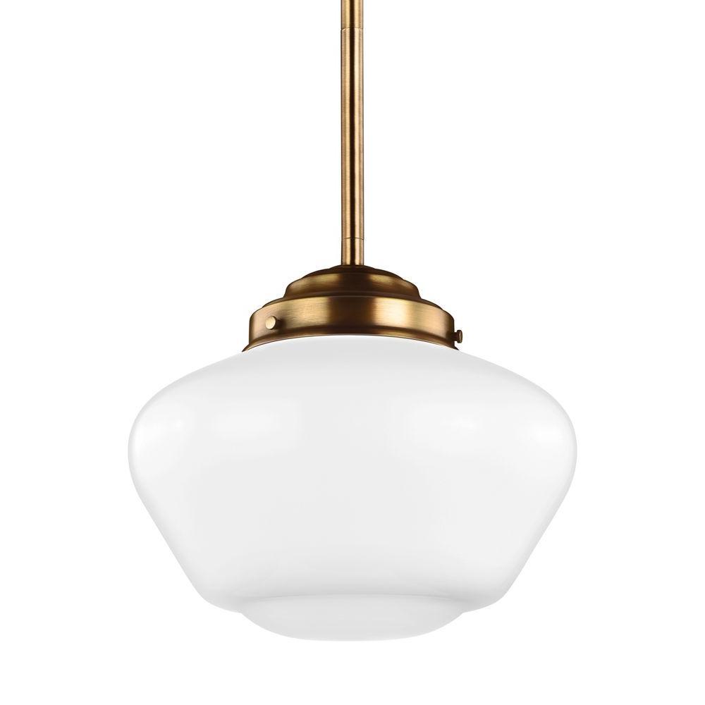 Alcott 1-Light Aged Brass Pendant