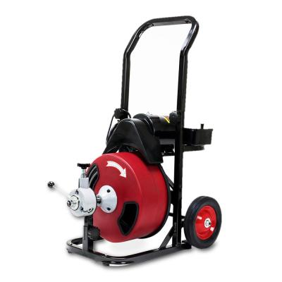 250-Watt Commercial Sewer Snake Drill Drain Cleaning Machine with 50 ft. Reinforced Cable and 4 Cutter Attachments