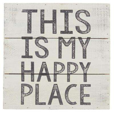 This Is My Happy Place Wood Plaque