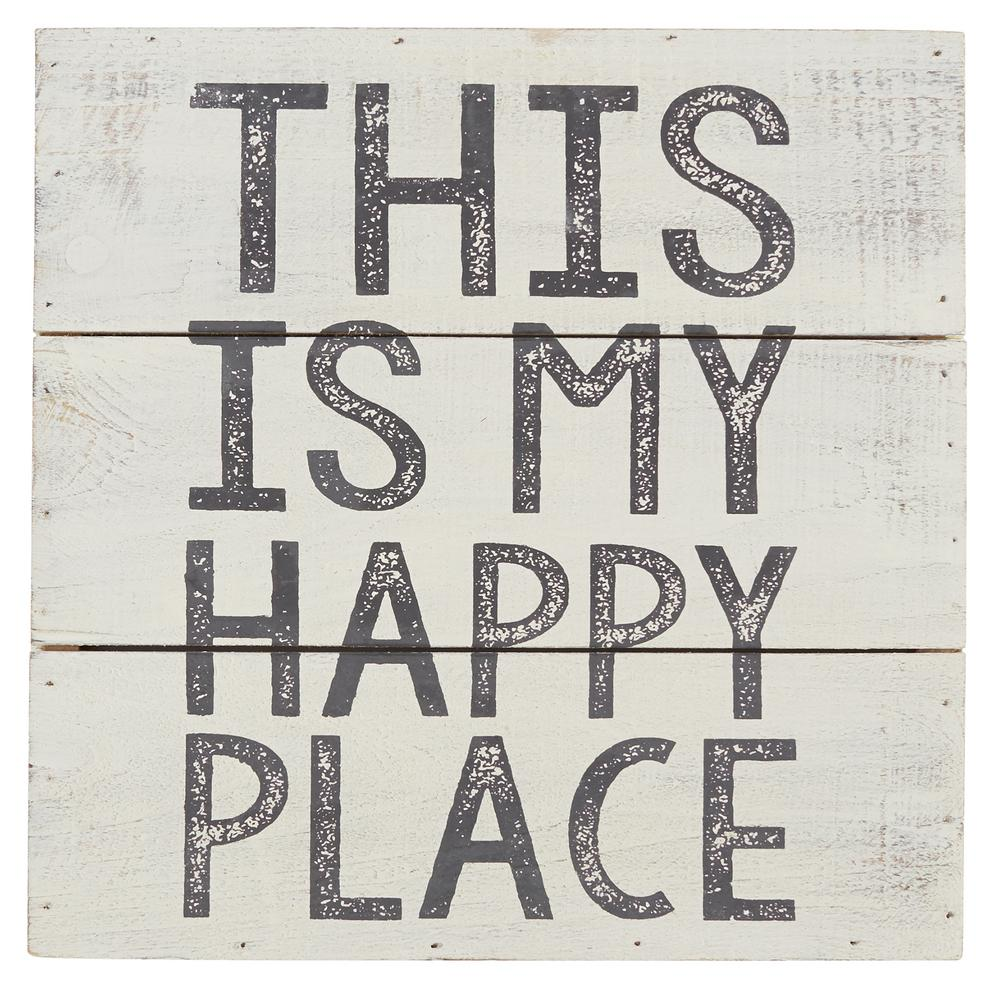 This Is My Happy Place Wood Plaque-4345034P - The Home Depot