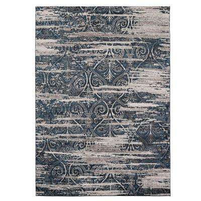 Blue Distressed 5 ft. x 7 ft. Area Rug