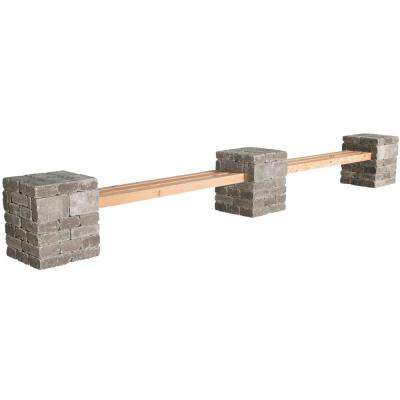 RumbleStone 179 in. x 24.5 in. x 21 in. Concrete Garden Bench Kit in Greystone
