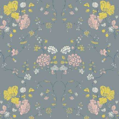 Nomad Collection Floral Lace In Stone Premium Matte Wallpaper