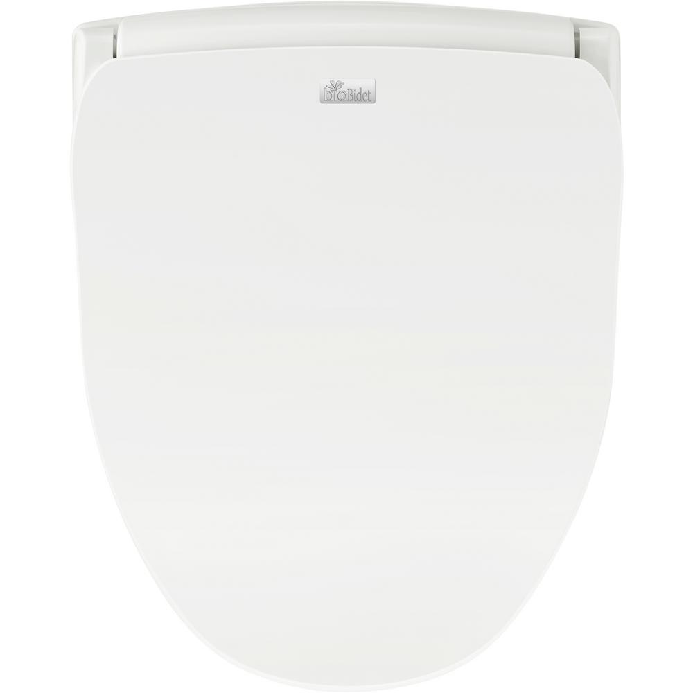 bioBidet Slim Series Electric Smart Bidet Seat for Round Toilet in White with Remote Control and Nightlight