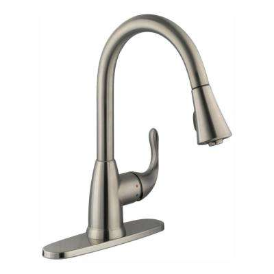 Market Single-Handle Pull-Down Kitchen Faucet with TurboSpray and FastMount in Stainless Steel