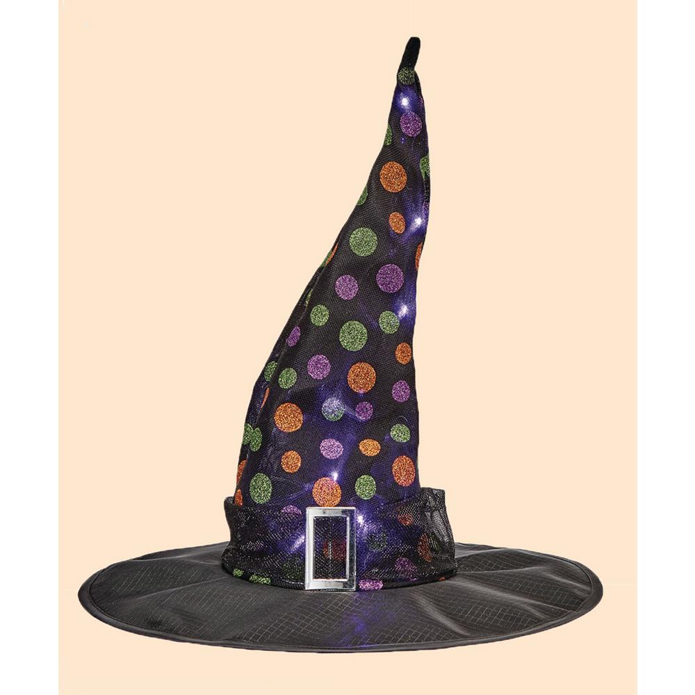18 In. X 15 In. Light Up Witch Hat-4230