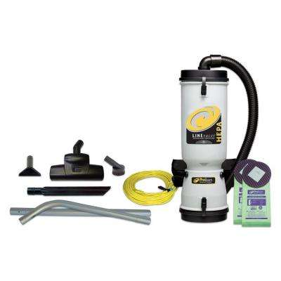 LineVacer HEPA 10 qt. Backpack Vac with Turbo Brush 2-Piece Wand Tool Kit