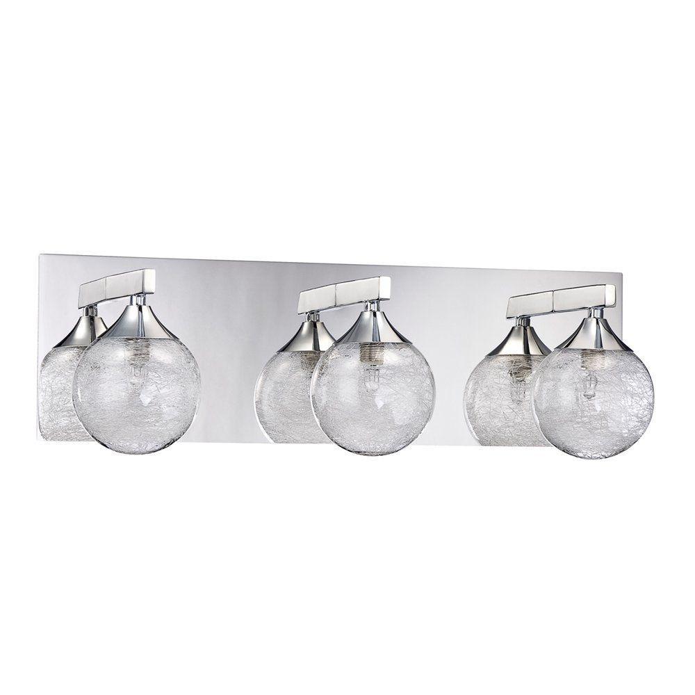 Adrastea 3-Light Chrome Bath Vanity Light