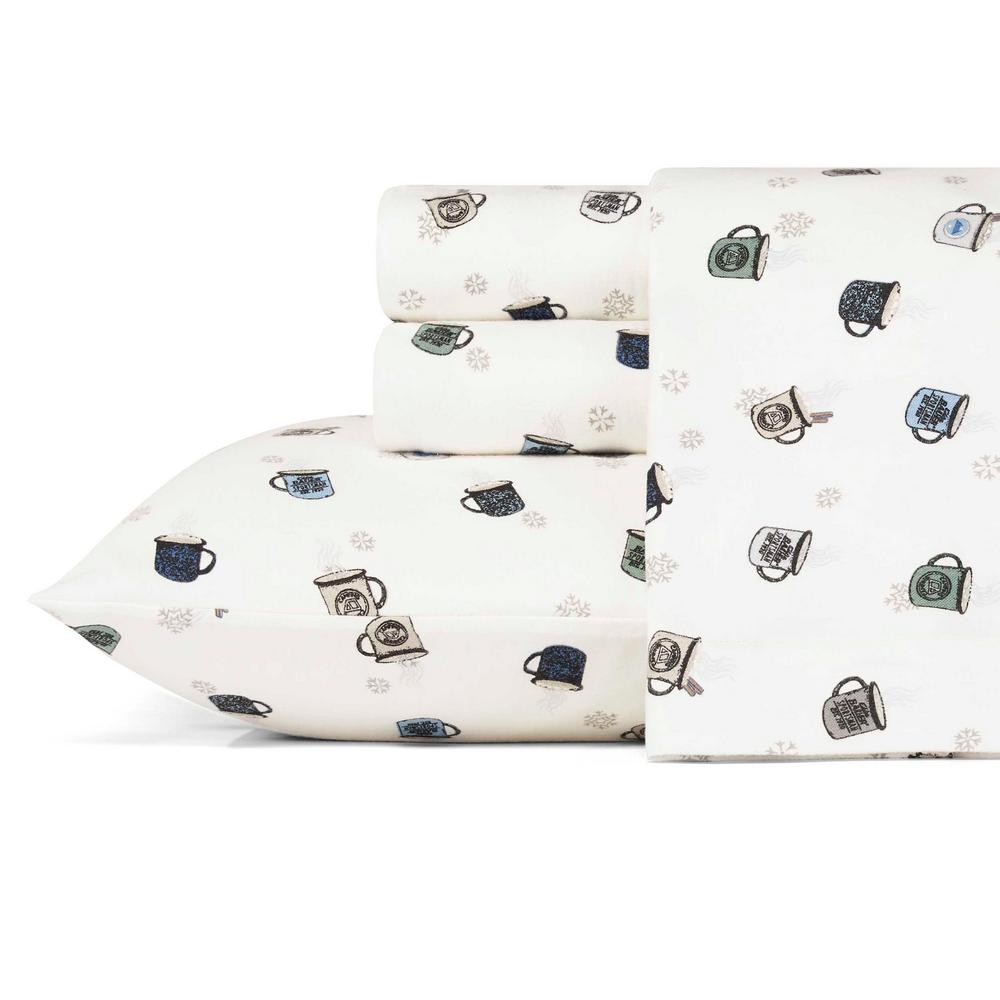 Eddie Bauer 3 Piece Camping Mugs Graphic Flannel Twin Sheet Set Ushsa01105782 The Home Depot