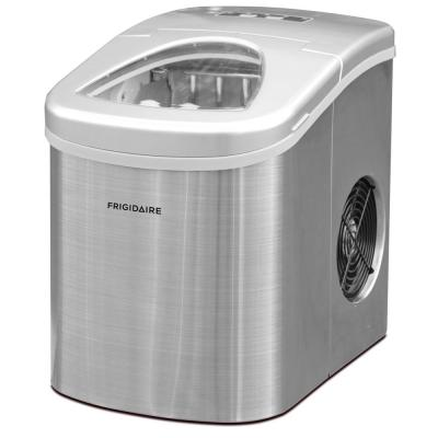 26 lb. Portable Countertop Ice Maker in Stainless Steel