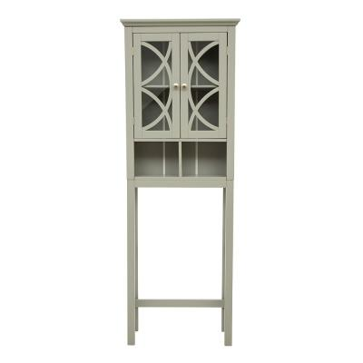 Linen Gray 2-Door High Cabinet