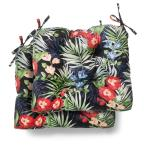 19 in. x 18 in. x 4.5 in. Caprice Tropical Tufted Outdoor Seat Cushion (2 Pack)