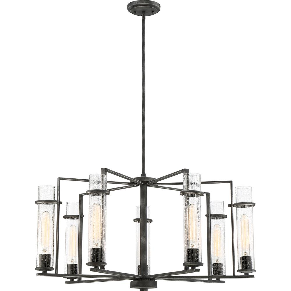 Filament Design 7-Light Iron Black Chandelier