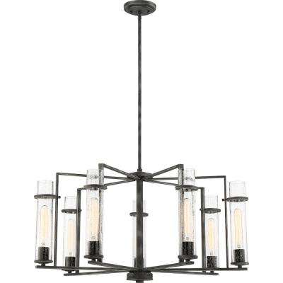7-Light Iron Black Chandelier