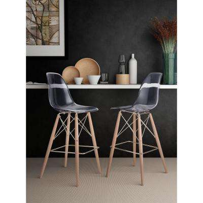 Shadow 29.5 in. Clear Bar Stool