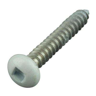 #10 1-1/4 in. Philips Pan-Head Square White Stainless Steel Sheet Metal Screws (8-Pack)