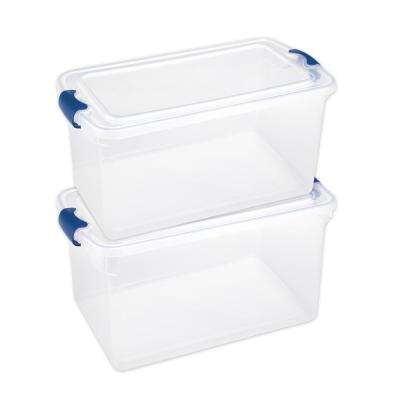 66 Qt. Latching Clear Storage Box (Set of 2)
