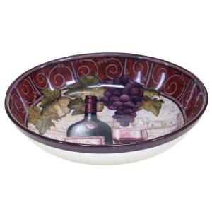 Wine Tasting Pasta/Salad Serving Bowl by
