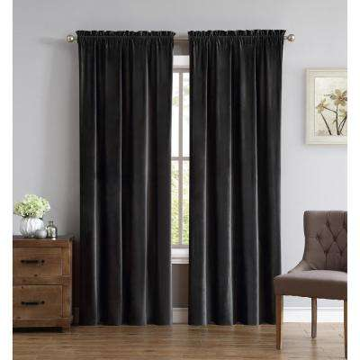 Everyday Pleated Velvet Drape Sets Grey Drape Set