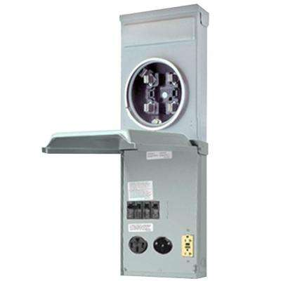 RV Outlet Box 100 Amp 120/240-Volt Ring Type Metered with 50 Amp, 30 Amp and 20 Amp GCFI Circuit Protected Receptacles