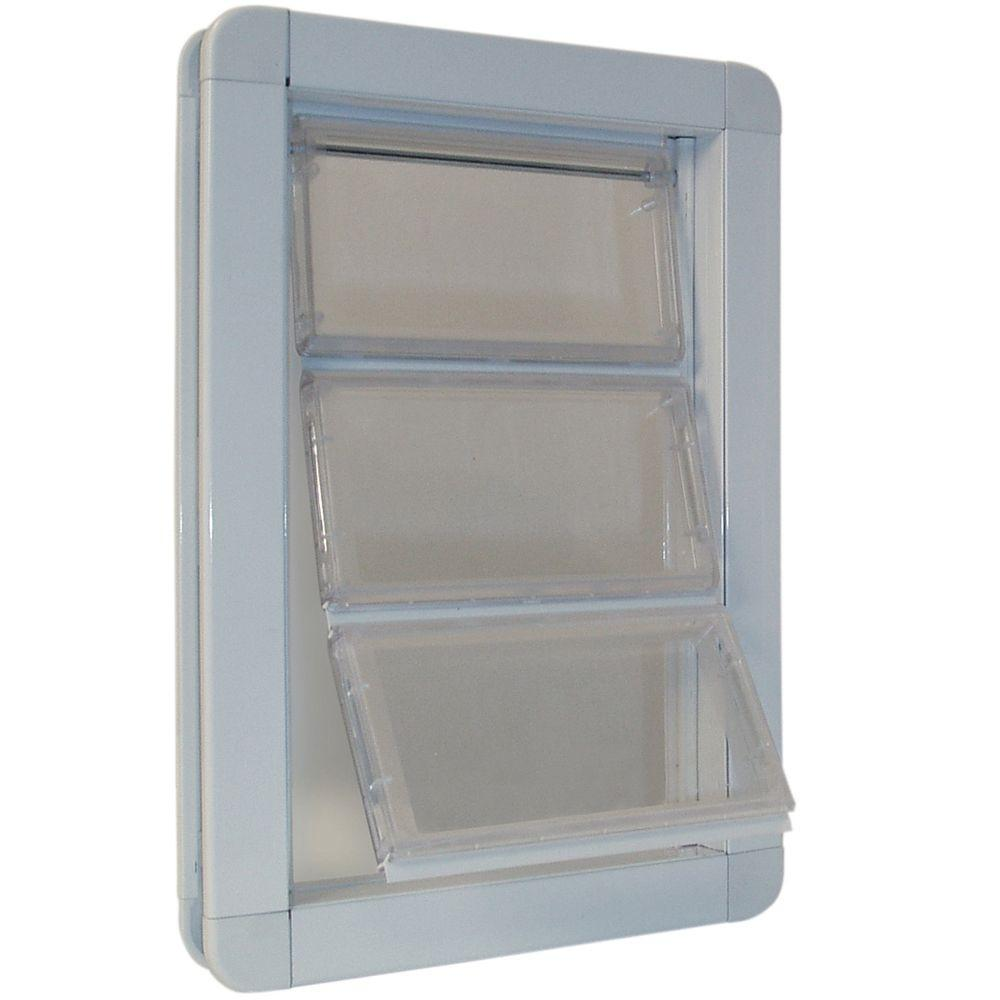 Ideal Pet 6.625 in. x 11.25 in. Medium Premium Draft Stopper Aluminum Frame Door with Flexible Hard Flap