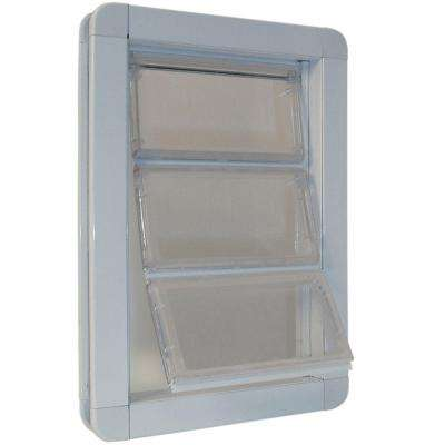 6.625 in. x 11.25 in. Medium Premium Draft Stopper Aluminum Frame Door with Flexible Hard Flap