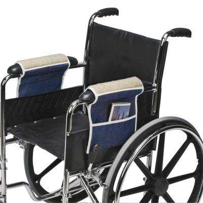 Fleece Wheelchair Armrests with Pouch