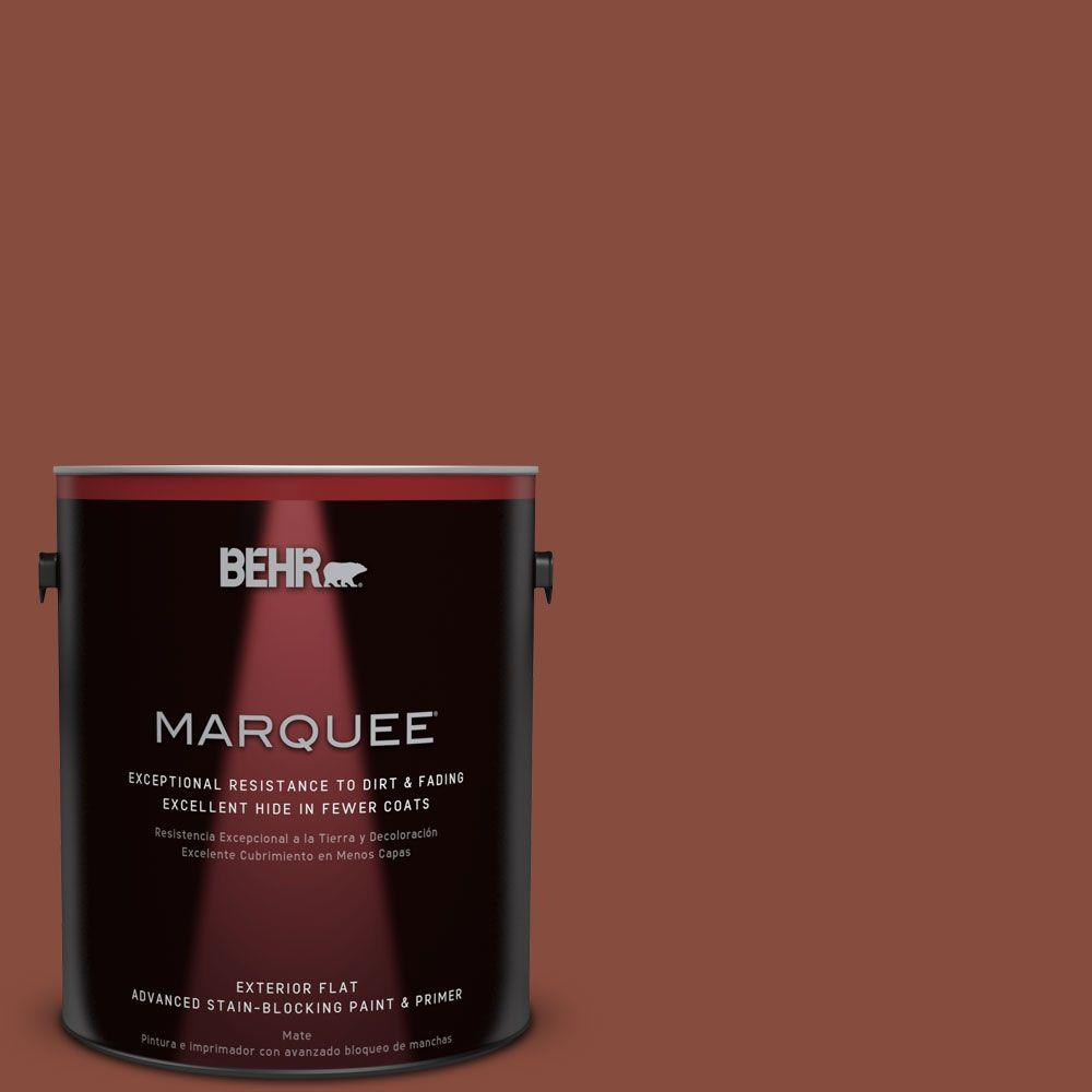 BEHR MARQUEE 1-gal. #QE-14 Spiced Red Flat Exterior Paint