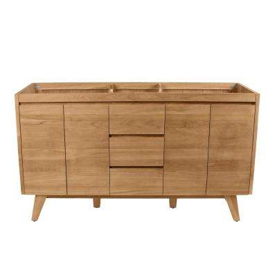 Coventry 60 in. Vanity Cabinet Only in Natural Teak