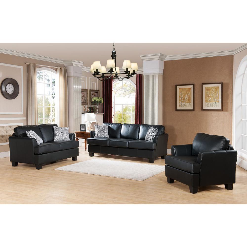 Sensational Signature Home Gracie Black Faux Leather Hide A Bed Sofa Dailytribune Chair Design For Home Dailytribuneorg