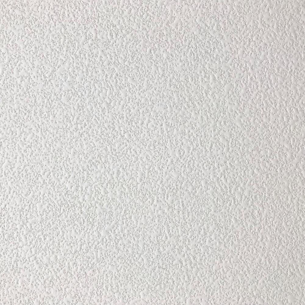 TopTile White 2 ft  x 2 ft  Square Edge Fiberglass Ceiling Tile (Case of 12)