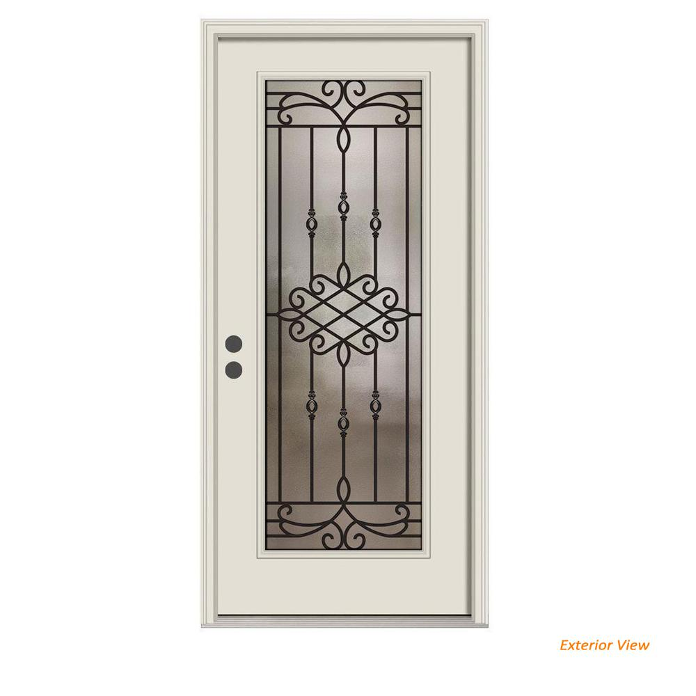 Jeld wen 36 in x 80 in full lite sanibel primed steel - Installing prehung exterior door on concrete ...