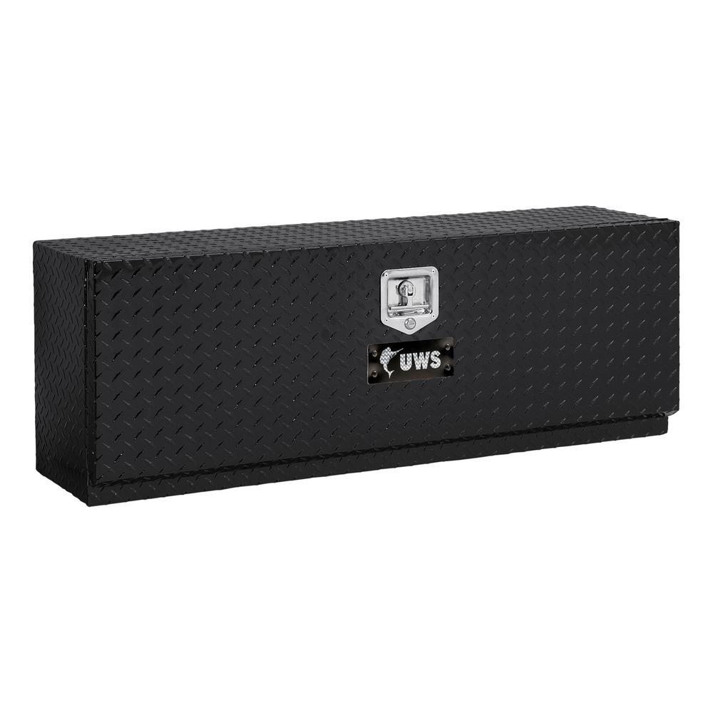UWS 48 in. Aluminum Topsider Black Tool Box with Single Door