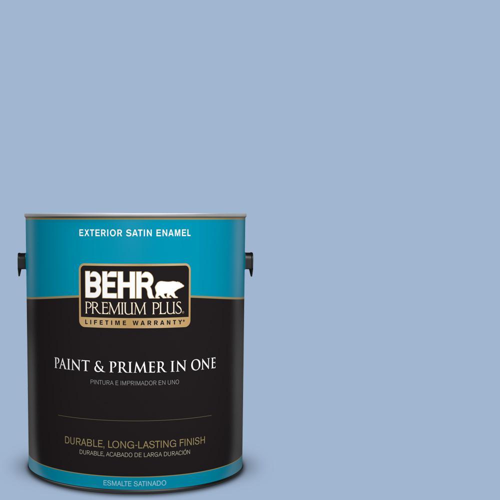 1 gal. #PPU14-10 Blue Suede Satin Enamel Exterior Paint