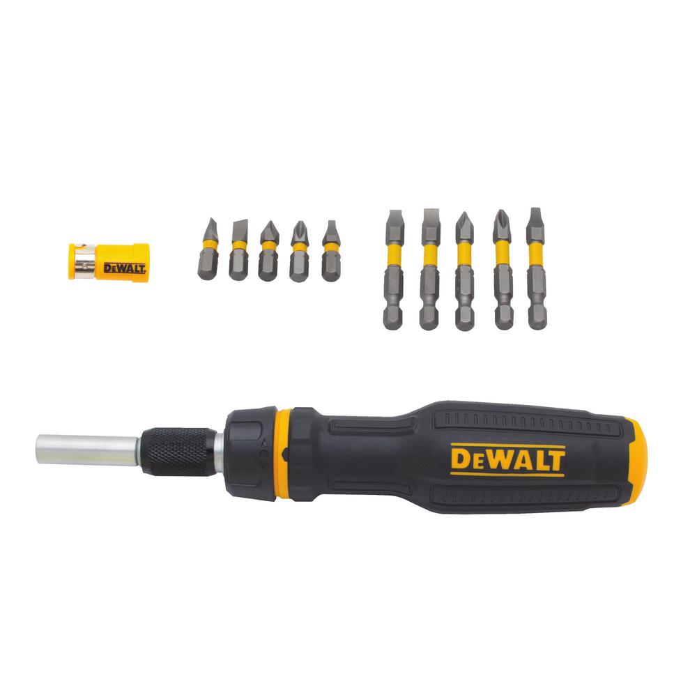 Max Fit Telescoping Ratcheting Multi-bit Screwdriver