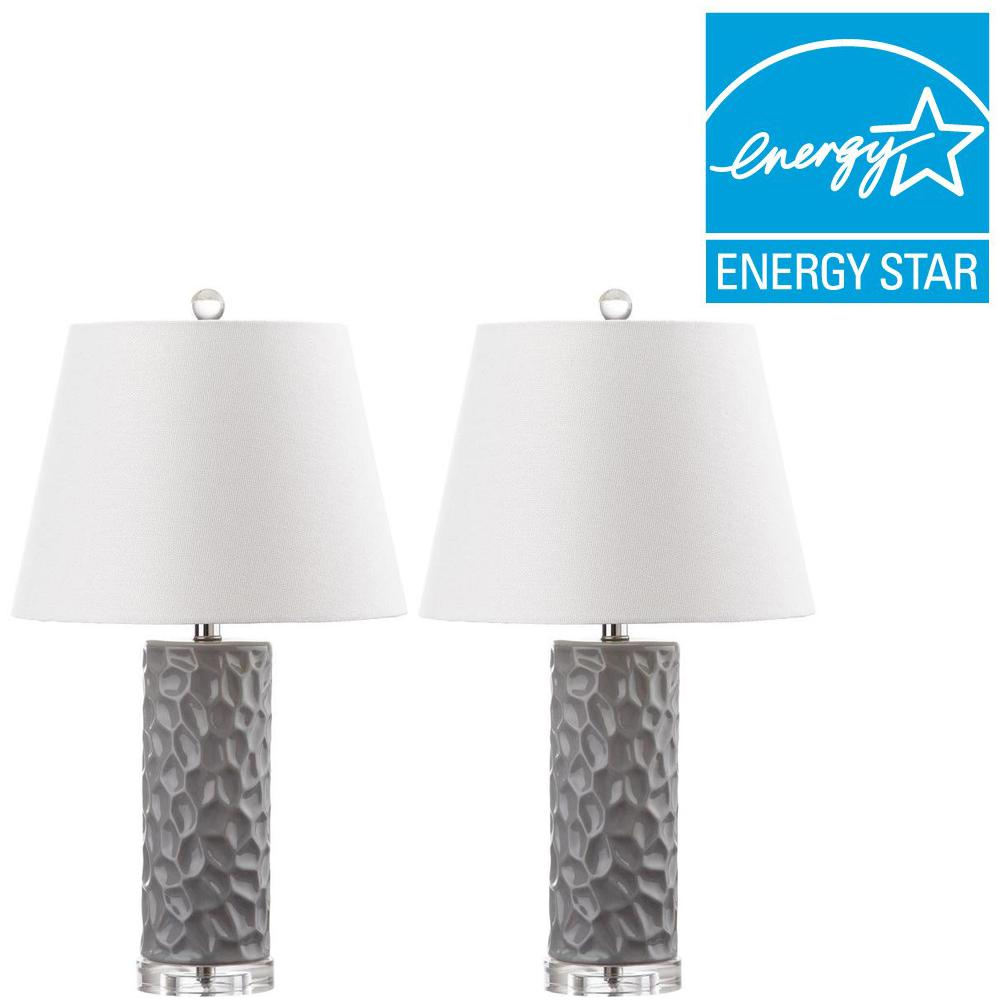 Gray Table Lamp (Set Of 2)