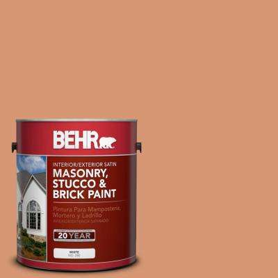 1 gal. #M210-5 Candied Yams Satin Interior/Exterior Masonry, Stucco and Brick Paint