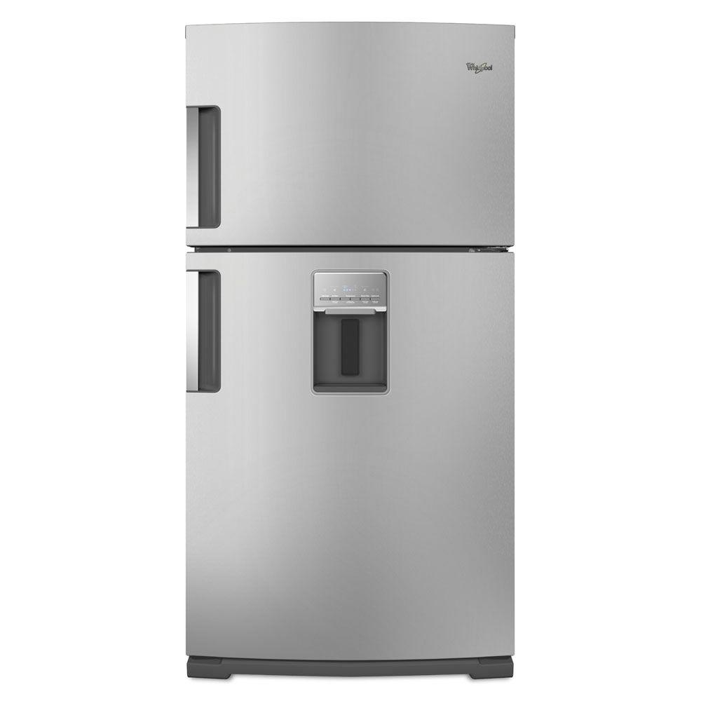 Whirlpool Gold 21.2 cu. ft. Top Freezer Refrigerator in Monochromatic Stainless Steel