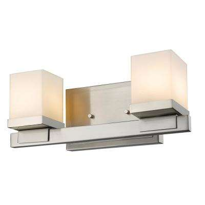2-Light Brushed Nickel LED Bath Light