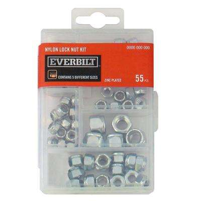 Zinc-Plated Nylon Locknut Kit (55-Piece)