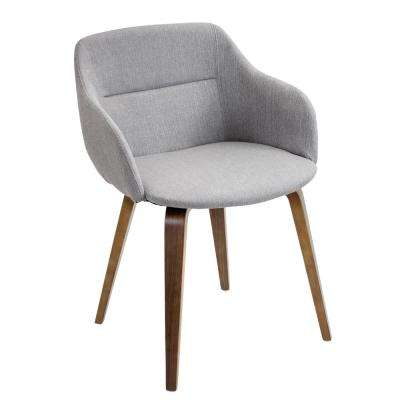 Campania Walnut and Grey Counter Chair