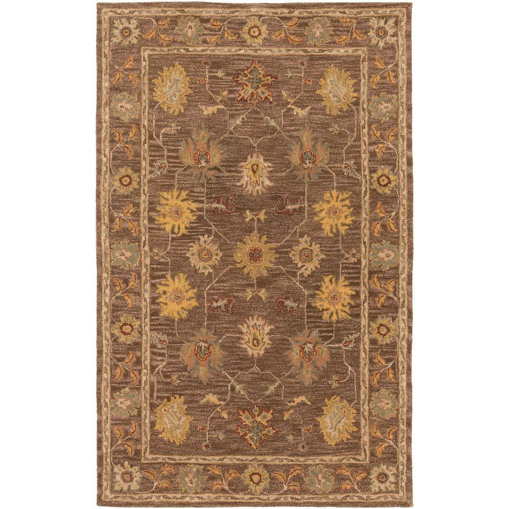 Middleton Lily Brown 3 ft. x 5 ft. Indoor Area Rug