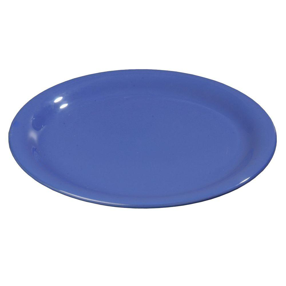 6.56 in. Diameter Melamine Narrow Rim Pie Plate in Ocean Blue