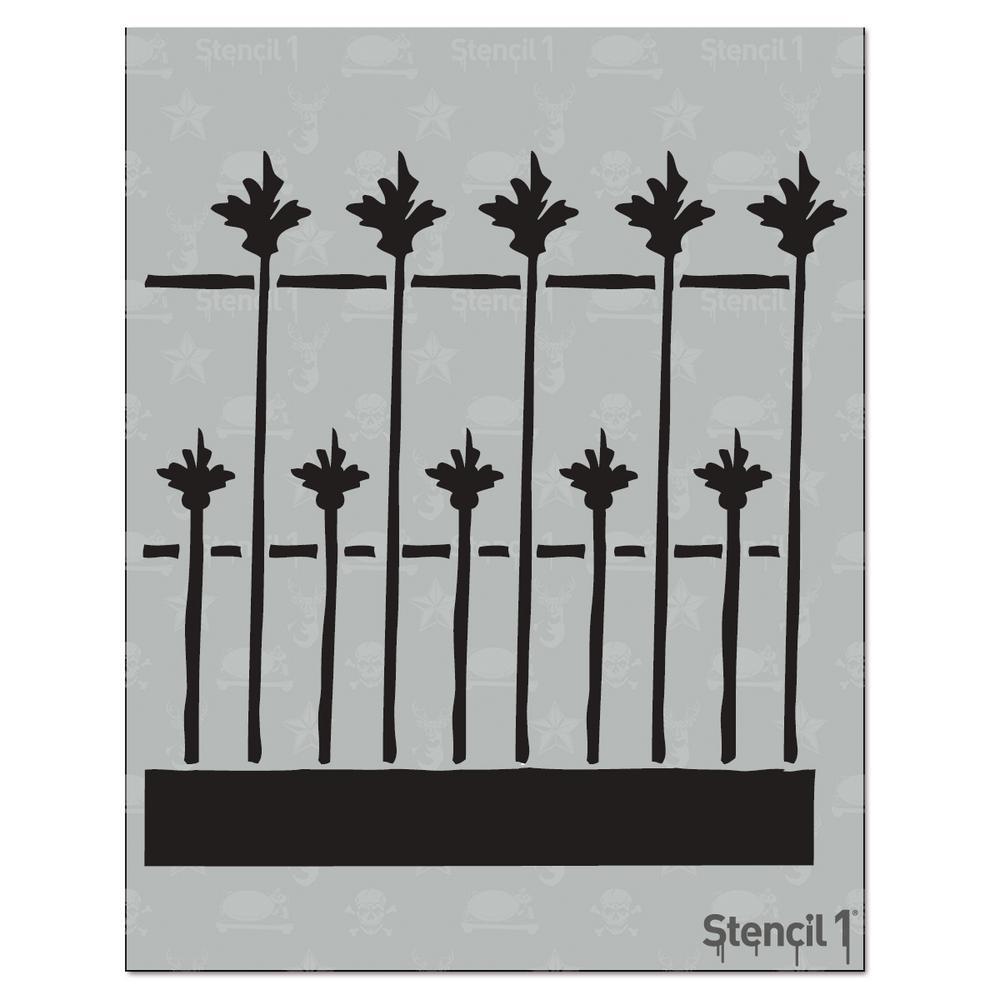 Stencil1 Fence Iron Stencil-S1_01_109 - The Home Depot